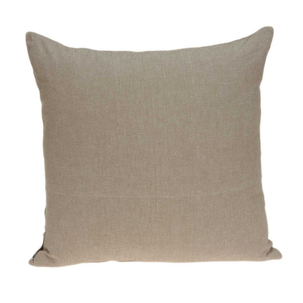 "20"" x 0.5"" x 20"" Traditional Tan Pillow Cover"