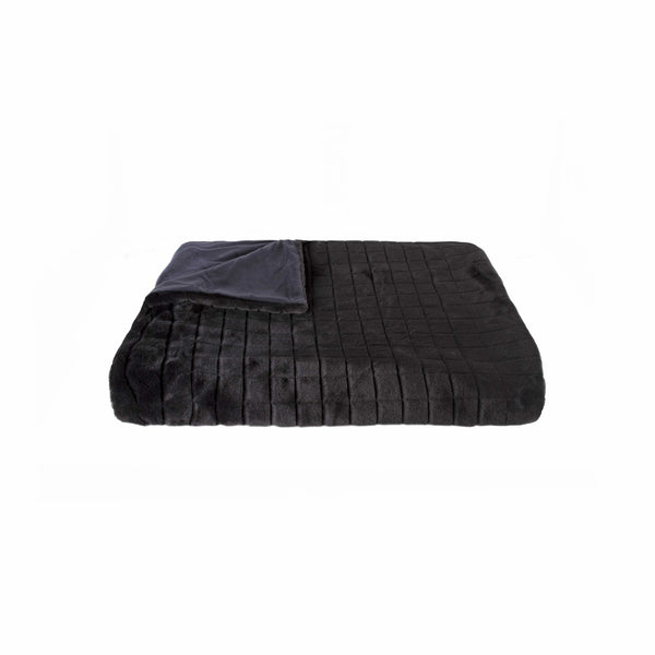 "50"" x 60"" Nixon Black Fur - Throw"
