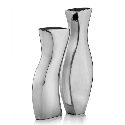 Buffed Adjoining Set of 2 Vases