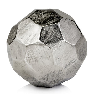 "4"" x 4"" x 4"" Rough Silver Sphere"
