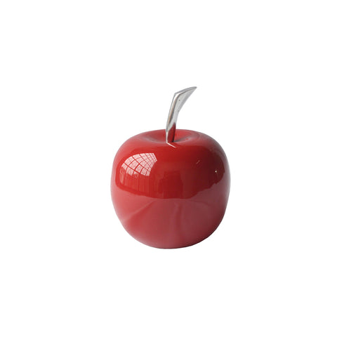 "4.5"" x 4.5"" x 6"" Buffed and Red Small Apple"