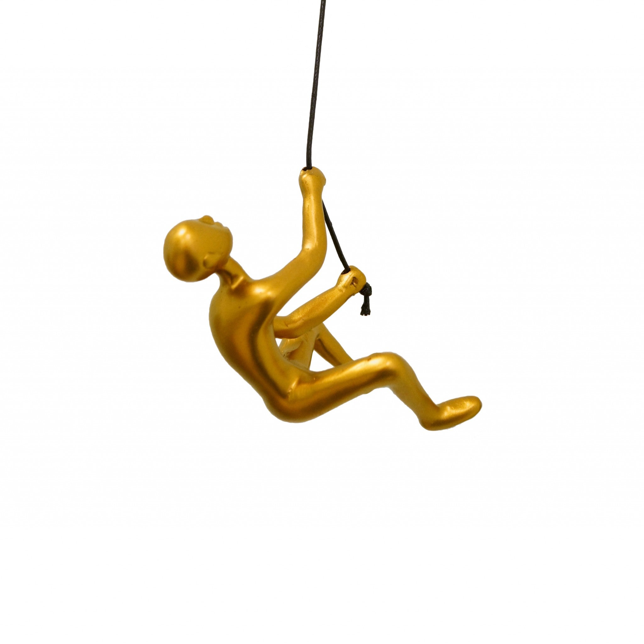 "6"" x 3"" x 3"" Resin Gold Climbing Man"