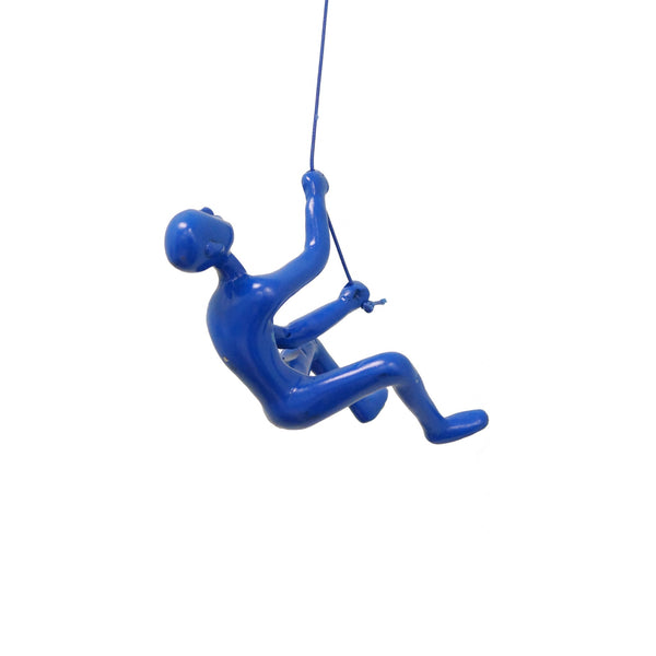 "6"" x 3"" x 3"" Resin Blue Climbing Man"