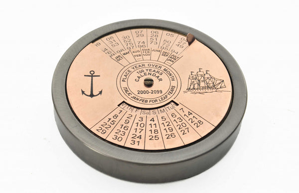 Set of 2 100 Year Calendar and Compass Quote