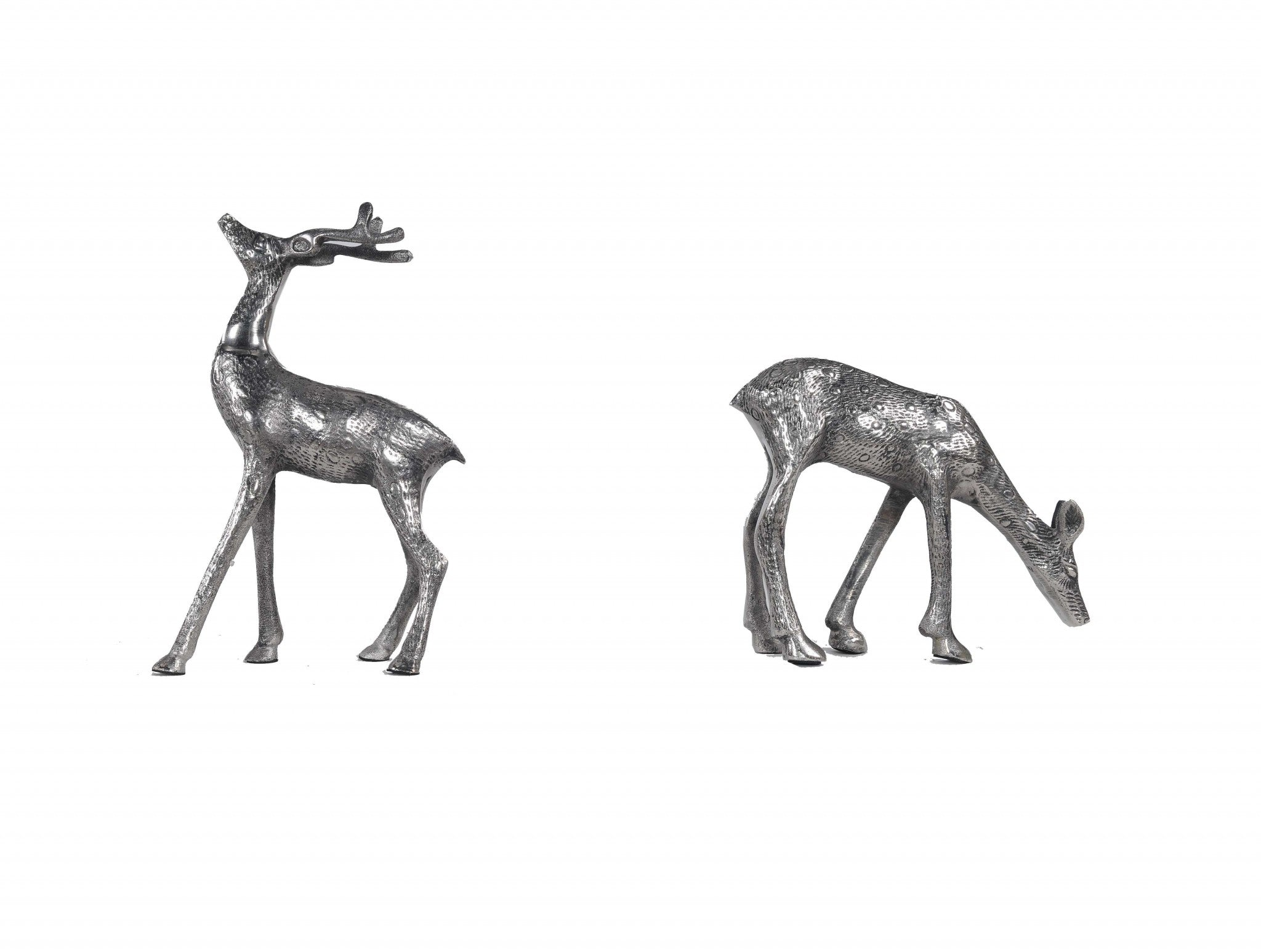 Stag and Doe Bookends or Sculptures