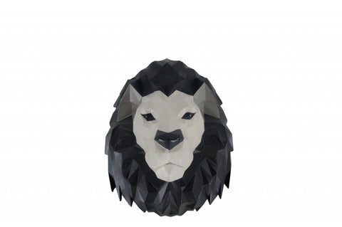 "11.5"" x 9.5"" x 14"" Origami Lion Head Wall Decoration"