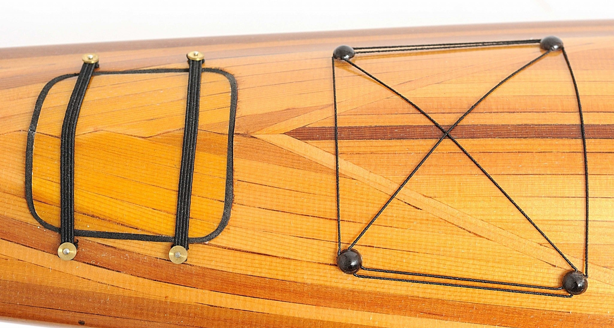 Rich Cedar Kayak Model Sculpture