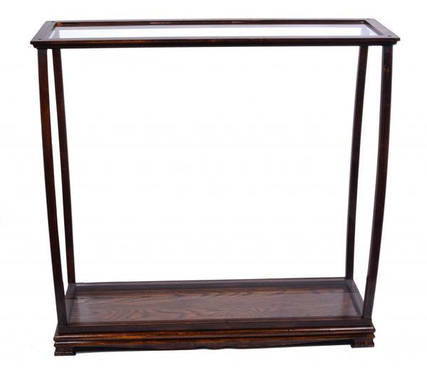 "13.75"" x 40"" x 39.25"" BrownTable Top Display Case Classic"