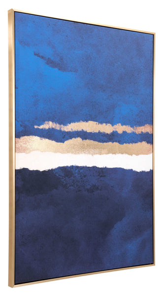 "32.7"" x 1.7"" x 48.4"" Multicolor, Pine Wood, Horizon Canvas"