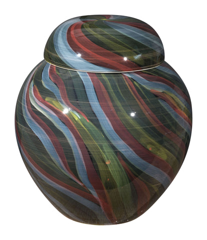 "12"" x 12"" x 13.8"" Multicolor, Ceramic, Medium Jar"