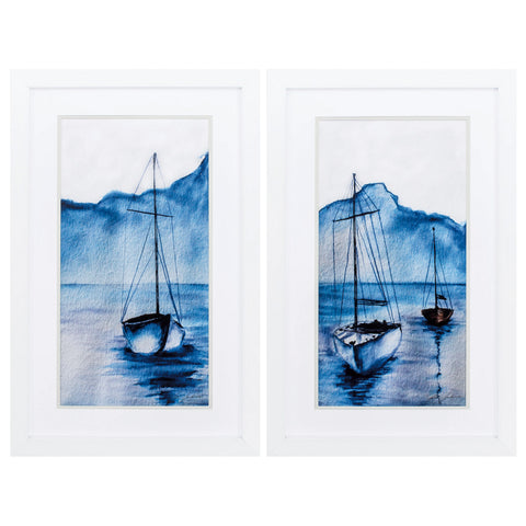 "20"" X 31"" White Frame Sails (Set of 2)"