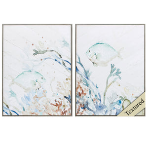 "18"" X 24"" Woodtoned Frame Under The Sea (Set of 2)"