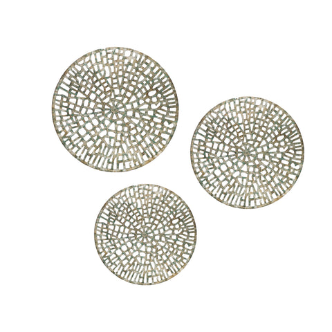 "20"" X 20"" Antiqued Discs (Set of 3)"