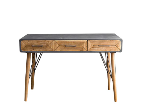 Mod 3 Drawer Console Accent Table