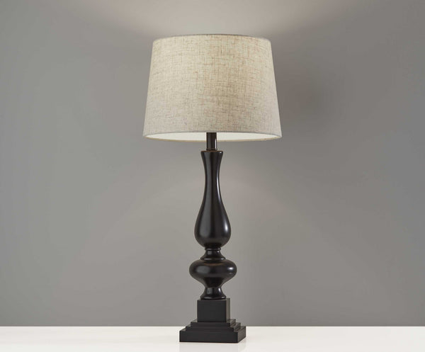 "13"" X 13"" X 28"" Black Polyresin 2 Pc Table Lamp Bonus Pack"