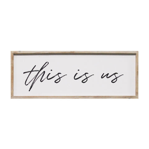 """This Is Us"" Wood Framed Wall Art"