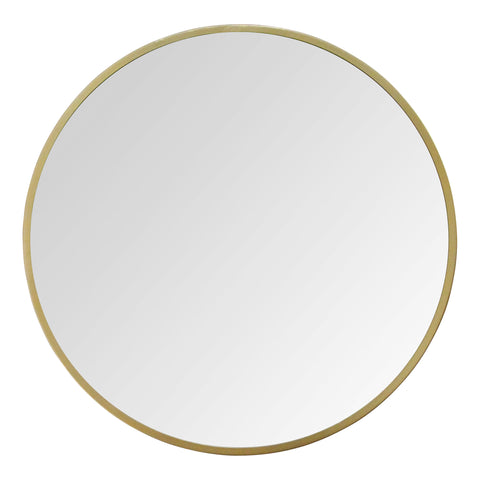 "28"" Aubrey Gold Metal Framed Wall Mirror"