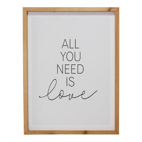 """All You Need is Love"" Framed Wall Art"