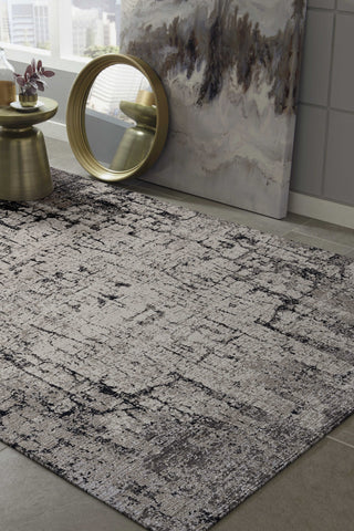 "106"" X 158"" Ivory or Grey Polyester Rug"
