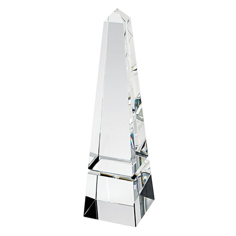 "10"" Hand Crafted Crystal Obelisk"