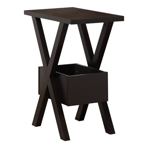 Rectangular Dark Taupe Laminated Wood Accent Table