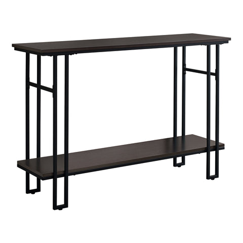 "48"" Rectangular GreywithBlack Metal Hall Console Accent Table"