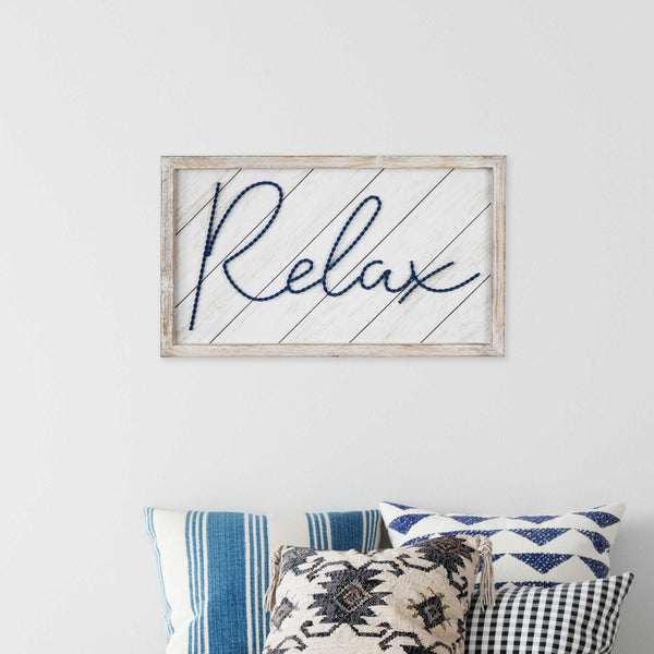 "20"" x 12"" ""Relax"" Framed Wall Art"