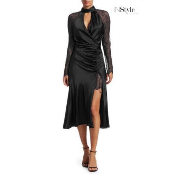 Jonathan Simkhai Black Silk Dress