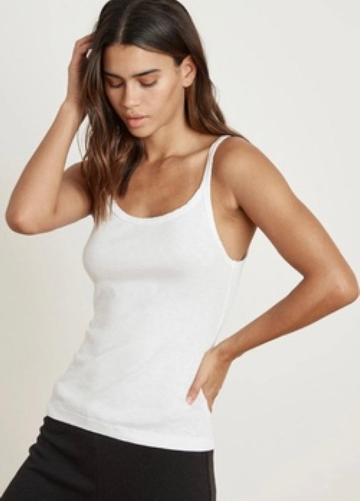 VELVET Aliza Cotton Slub Tank white