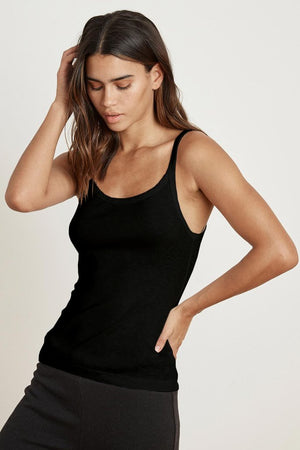 VELVET Aliza Cotton Slub Tank black