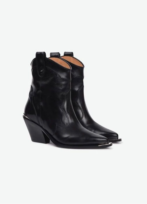 BARBARA BUI Shiny Calf Ankle Boots
