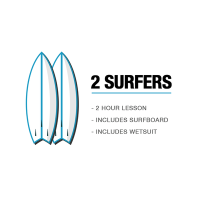2 SURFERS - SURF LESSON