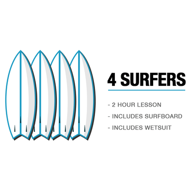 4 SURFERS - SURF LESSON