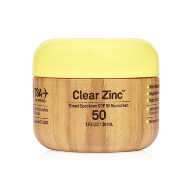 SUN BUM SPF 50 CLEAR ZINC 1 OZ
