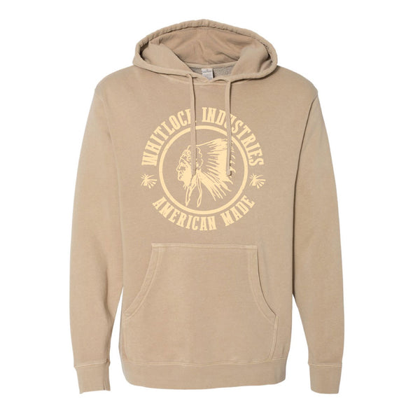 WHITLOCK UNISEX PULLOVER HOODY AMERICAN INDIAN LOGO