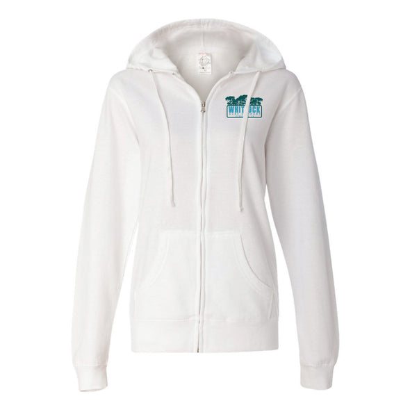 WHITLOCK JUNGLE PALM ZIP UP HOODIE