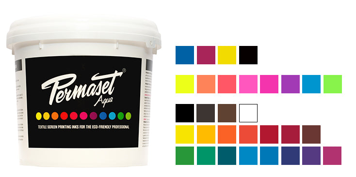 PERMASET AQUA eco-friendly textile screen printing inks for light toned fabrics