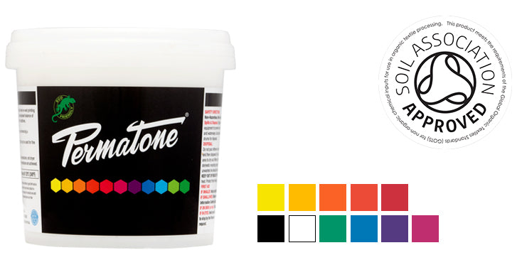 PERMATONE eco-friendly soil association approved screen printing inks for color matching