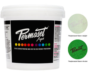 PERMASET Phosphorescent Green water-based ink