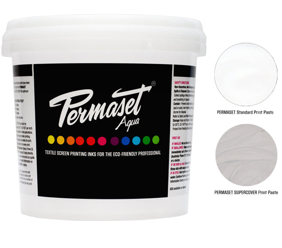 PERMASET AQUA and PERMASET SUPERCOVER Print Paste for making reductions and as a base for mixing water based screen printing inks