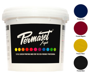 PERMASET AQUA screen printing process inks for photographic designs