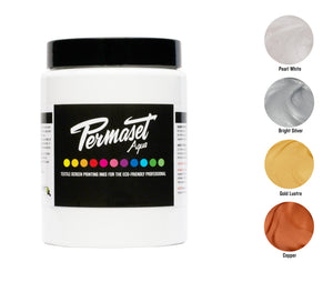 300 mL PERMASET AQUA Metallics Trial Kit - a water-based ink for light and dark fabrics