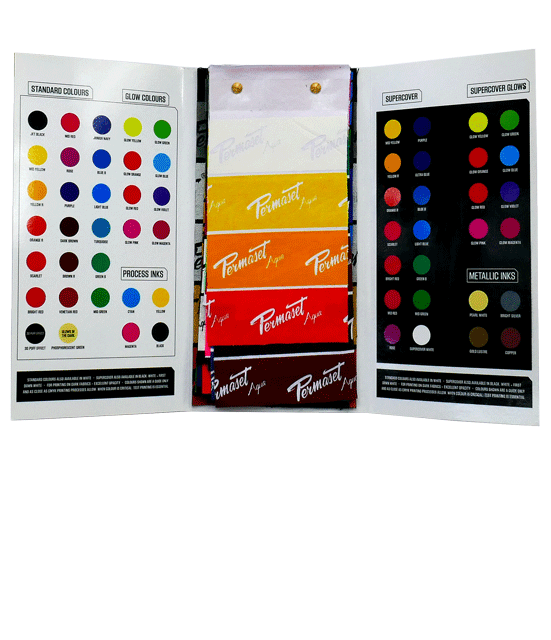 PERMASET Water Based Screen Print Inks Printed Colour Guide