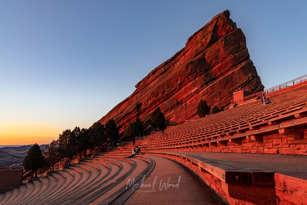 Sunrise at Red Rocks Amphitheater in Golden, Colorado