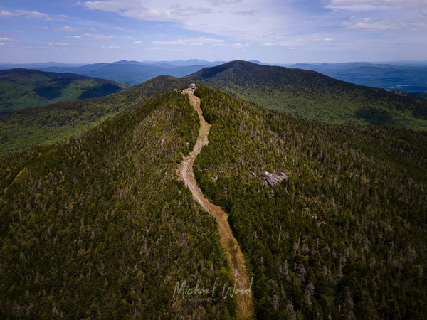 Aerial view of Madonna Peak at Smuggler's Notch in Vermont