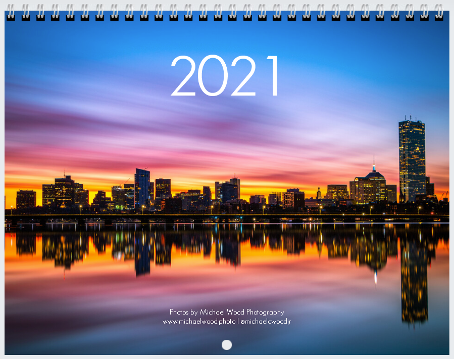 Michael Wood Photography 2021 Photo Calendar - Centerfold Spiral