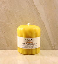 "Load image into Gallery viewer, Melted Beeswax Candle (Medium) 2.5"" X 3"""