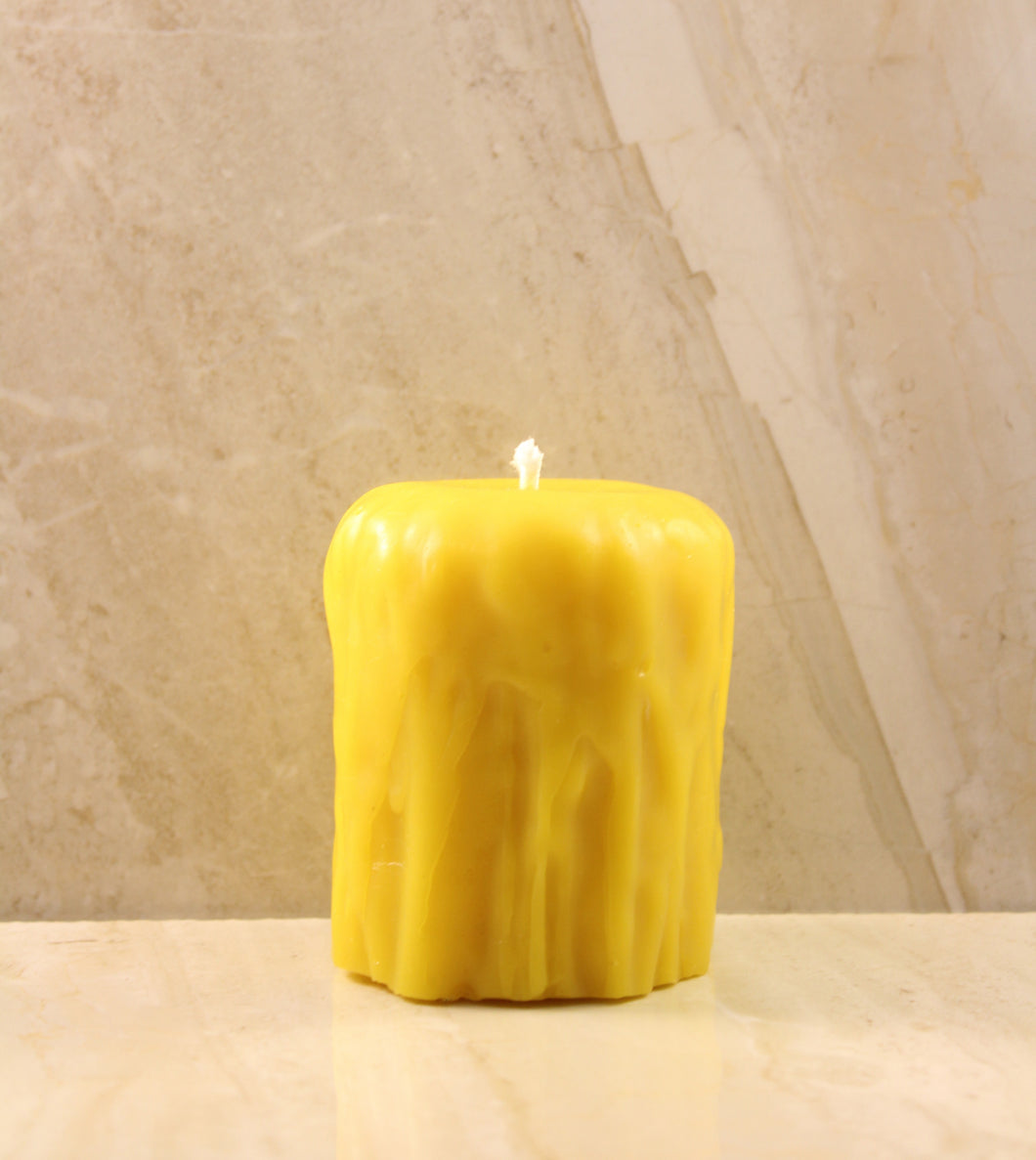 Melted Beeswax Candle (Medium) 2.5