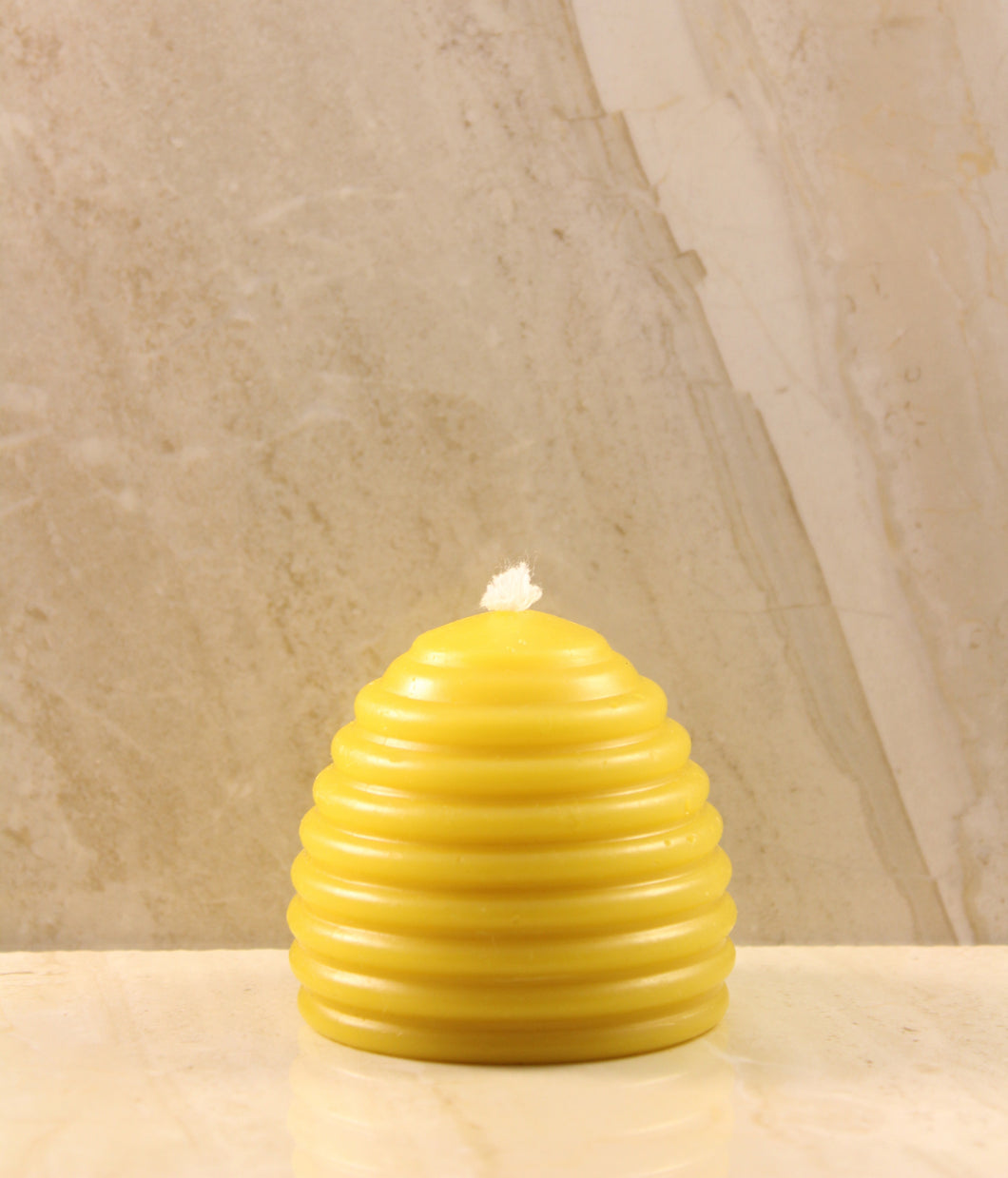 Old Fashioned Skep Beeswax Candle 2.5