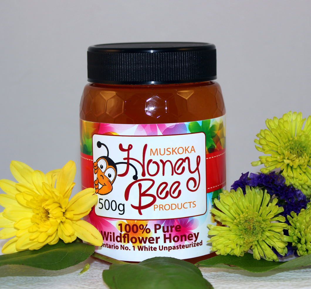 500 g Pure Unpasteurized Liquid Wildflower Honey